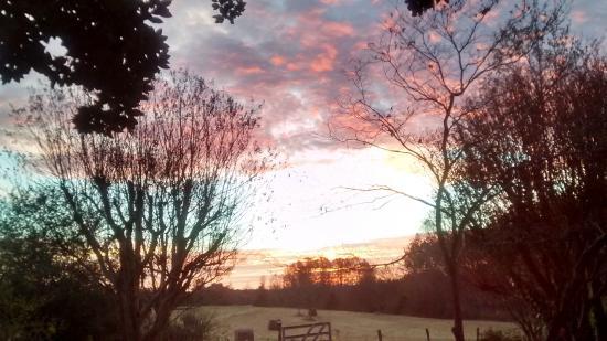 Salem, Carolina del Sur: Sunrise view from porch