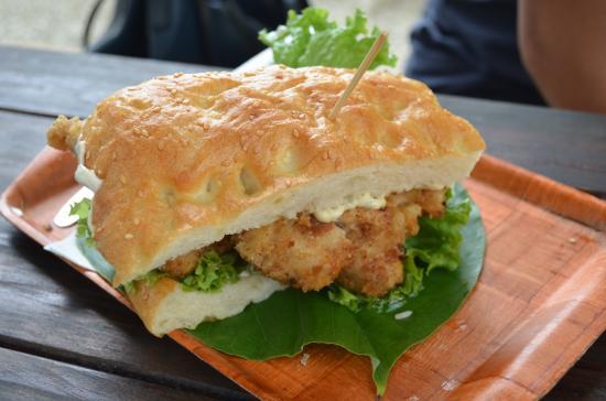 Fob sandwich picture of the mooring rarotonga tripadvisor for Best fish sandwich near me