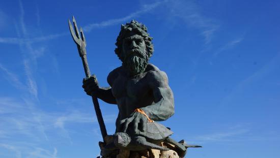 Neptune S Park Virginia Beach King Mighty Statue