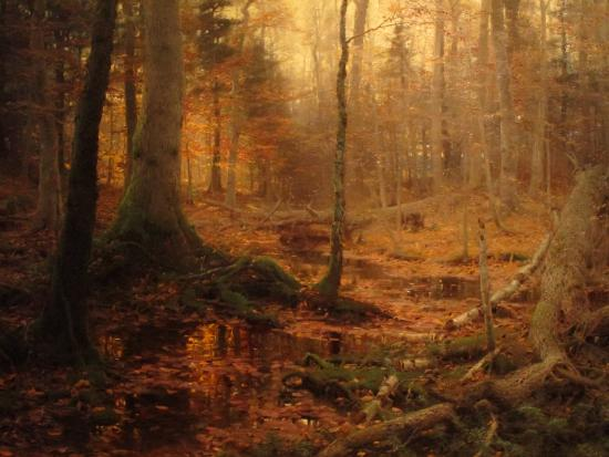 """Museum of Art at Brigham Young University: """"Fallen Monarchs"""" by William Bliss Baker (1886)"""