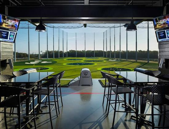 Topgolf Webster playing bays