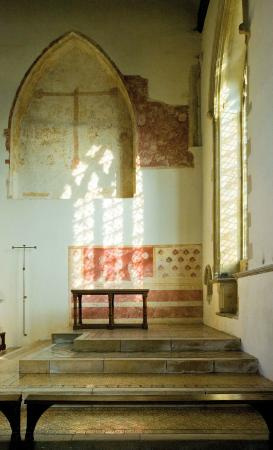 Dorchester Abbey: 14th Century Wall painting in the People's Chapel