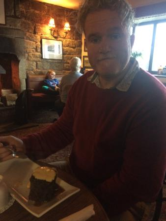 The Pack Horse Inn: My man and his yummy sticky toffee pudding