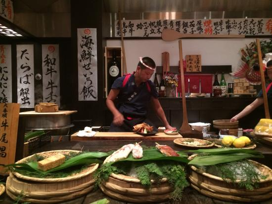 Inakaya Anese Restaurant Chef Cooks In Front Of You