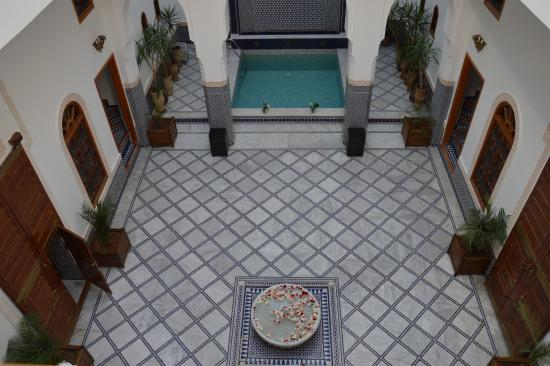 Riad Layali Fes: Vue intérieure de mon balcon