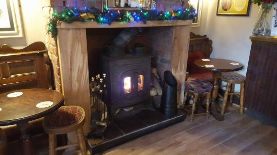 Childer Thornton, UK: Our cosy new fireplace!