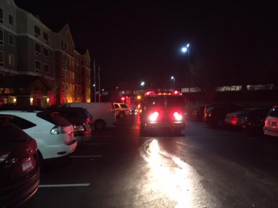 Staybridge Suites Harrisburg: 1 of 4 fire trucks responding to fire