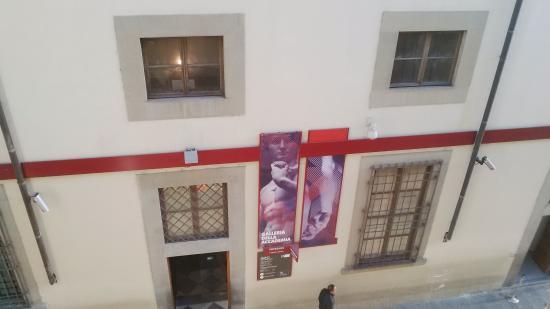 Palazzo Alfani al David: Vista sulla Galleria dell'Accademia