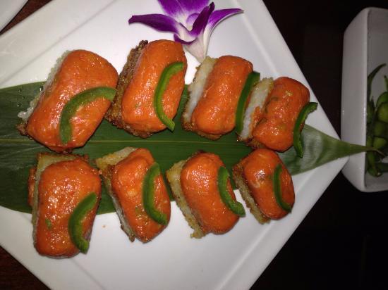 Crispy rice bild fr n koi restaurant new york tripadvisor for Koi new york