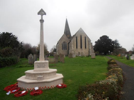 Woodchurch, UK: war memorial and church