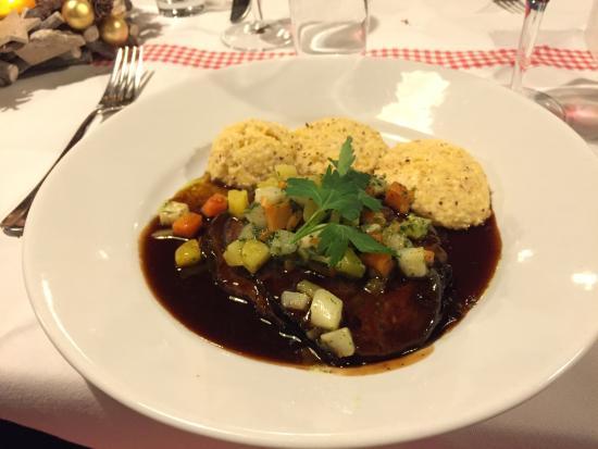 Tessin Grotto : Main dish (Brasato di Manzo)