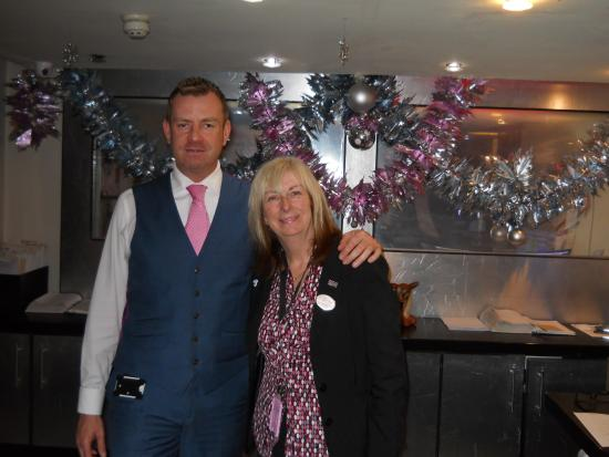 Tiffany's Hotel Blackpool: Mr Howard Crump manager with Lynn