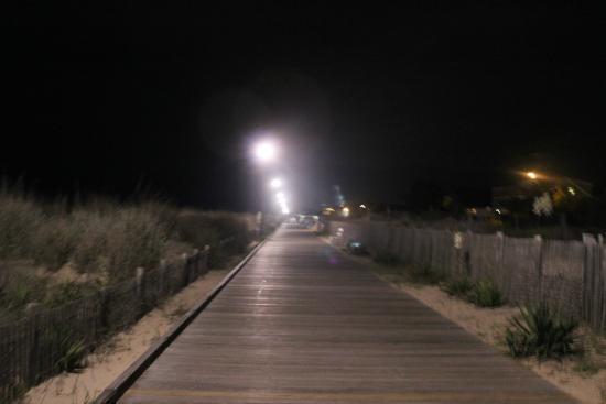 Rehoboth Beach Boardwalk: calçadão na área mais calma