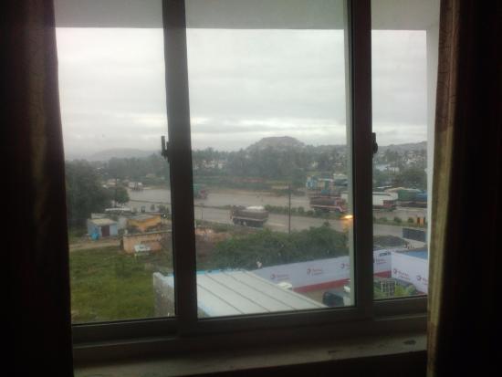 Krishnagiri, India: outside view from the room