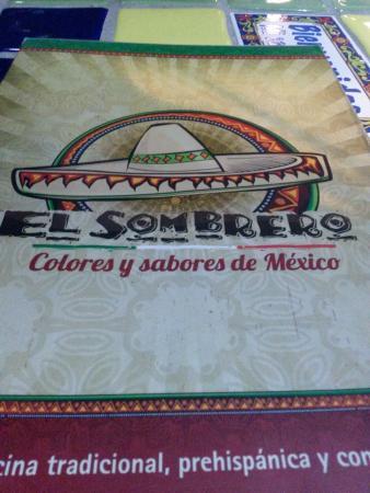 472674f593082 El menú - Picture of El Sombrero Comida Mexicana