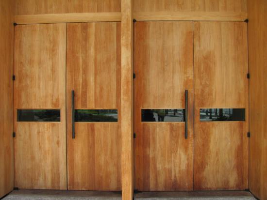 Perez Art Museum Miami the huge wooden doors of the main entrance & the huge wooden doors of the main entrance - Picture of Perez Art ...