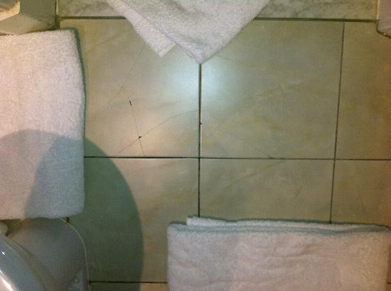 My Bathroom Floor Is Leaking : Broken bathroom tiles and leaking floor picture of