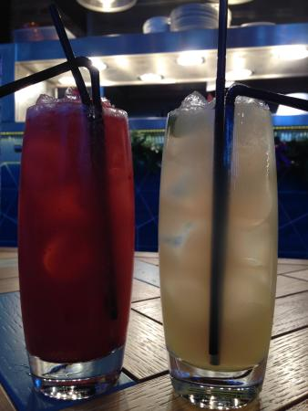 All Bar One - Birmingham: Peach Melba and Elderberry fizz