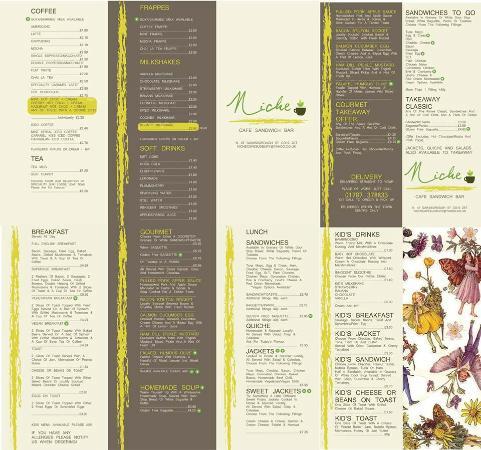 Niche Cafe: Niche Seasonal Menu