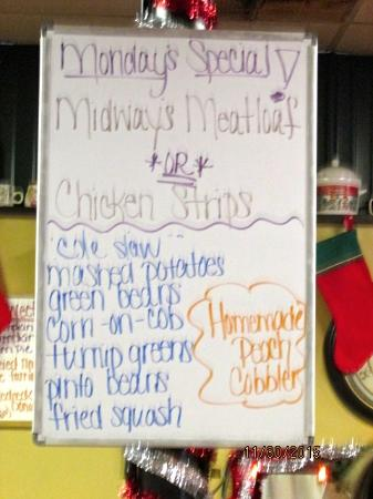 Shelbyville, TN: Specials board