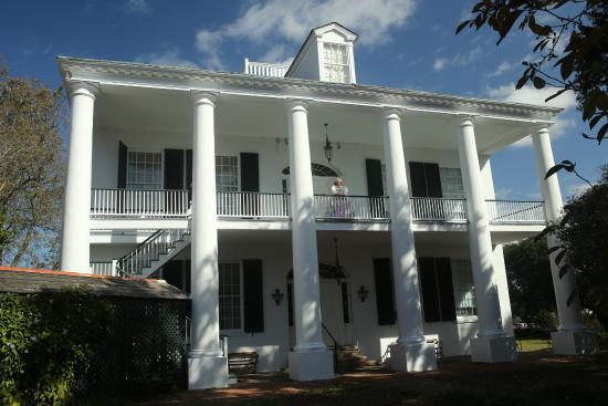 Natchez, MS: The back entrance to Rosalie