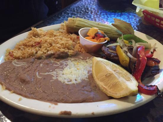 Shell Beach, CA: sweet corn tamale and carne asada