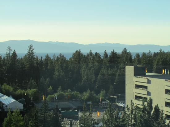 Harveys Lake Tahoe: the lake is out there...