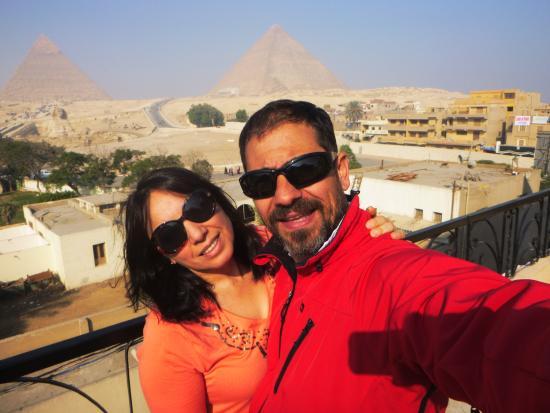 Pyramids View Hotel : vista desde el desayunador