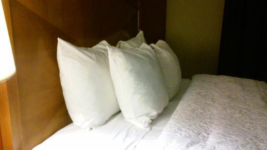 Hampton Inn and Suites - Dallas Allen : Lotsa lotsa pillows!