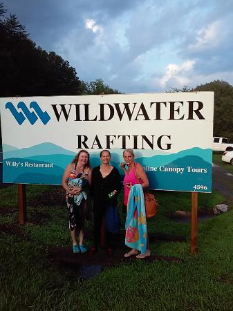 Ducktown, TN: Kathleen Sherri and Kathy get ready to go rafting middle Ocoee