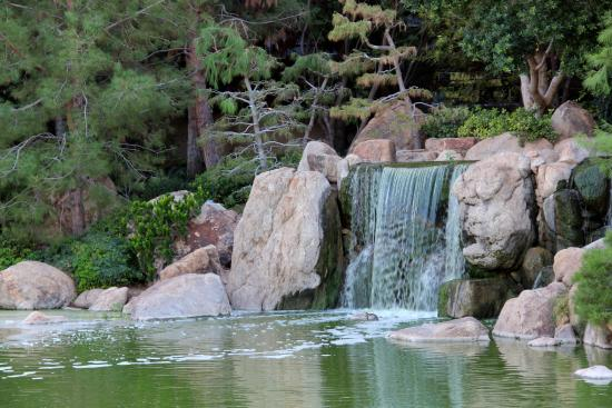 Japanese Friendship Garden: One Of Several Waterfalls.