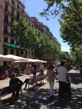 Amrey Sant Pau: ホテル近辺の通り