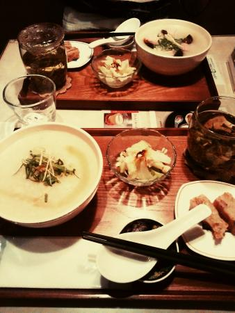 Tim ma ma: ランチセットのお粥