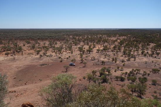 view from lookout with Quilpie in the distance