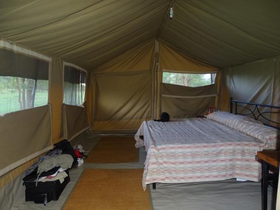Very comfortable and large bed inside the tent   Picture of Kati