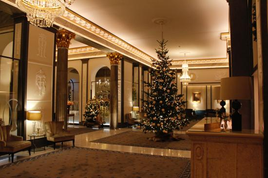 Lobby Area With Christmas Tree Picture Of Grand Hotel Stockholm Tripadvisor