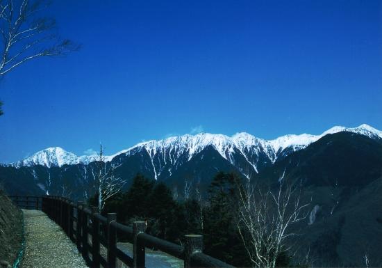 Iida, Japan: しらびそ高原から南アルプスを望む 冬