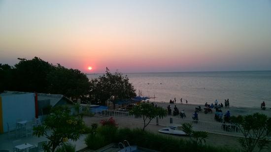Jepara Beach Hotel : Room view at sunset