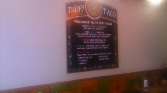 Trippy Taco: The Menu