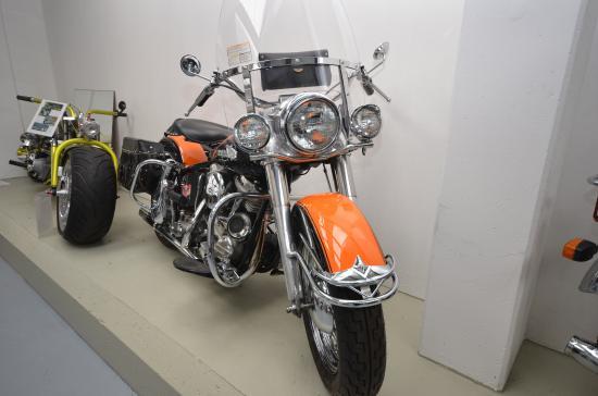 Ein Motorrad aus dem Automobilmuseum in Fichtelberg