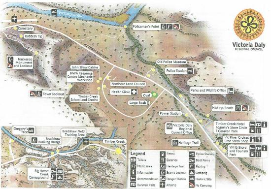 Timber Creek Attractions Map