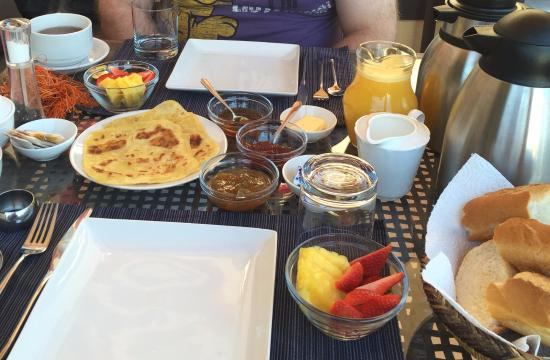 Riad Chayma: The Start of Breakfast on the Roof Terrace