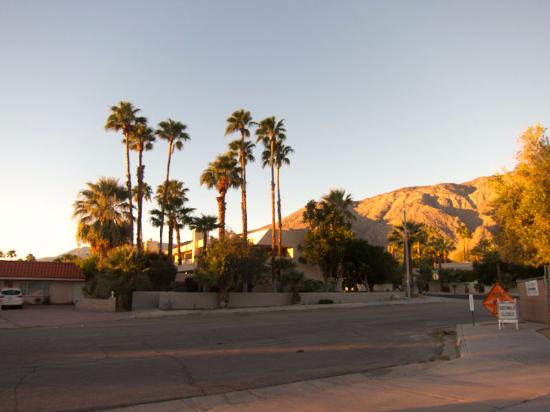 Desert Vacation Villas: view from parking lot in the morning sun
