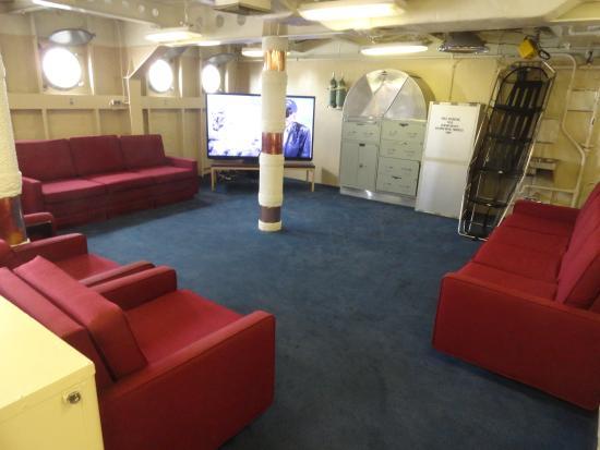 Interior lounge  Picture of Battleship USS Iowa BB61, Los Angeles  TripAdvisor