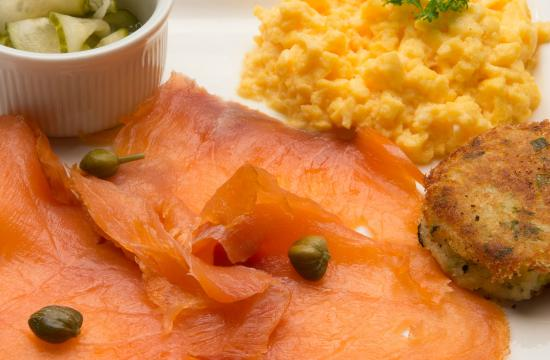 Sharamore House B&B: Local Smoked Salmon