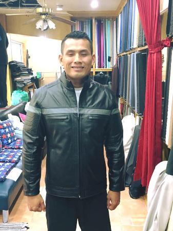 Bophut, Thailand: Leather Jacket