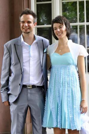 Bophut, Thailand: Silk Wedding Dress and Wedding Suit