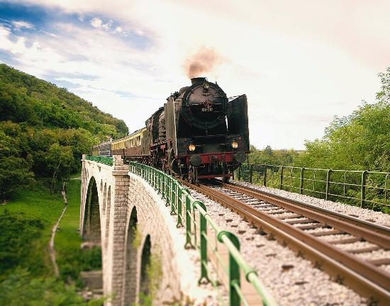 Jesenice, สโลวีเนีย: Steam train on Bohinj railway