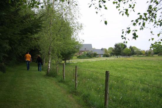 Maine et Loire, ฝรั่งเศส: sentier de randonnée qui commence au pied du gîte