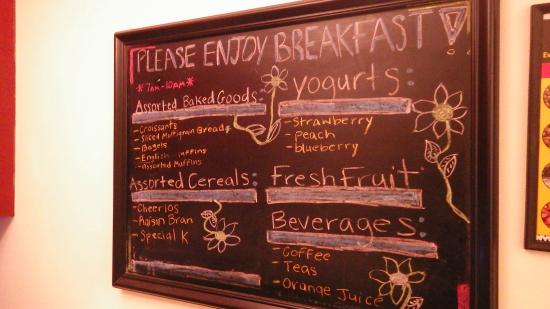 414 Hotel: Breakfast Menu